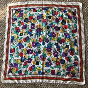 Bright Vintage Floral Scarf