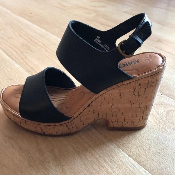 3b2c0ea7a07 Born Shoes - Born Black Wedges