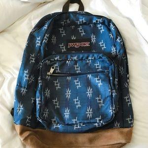 Jansport Denim Patterned Backpack