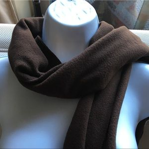 Old Navy brown fleece oblong scarf