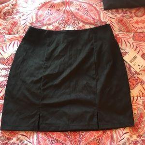 Black suede forever 21 mini skirt