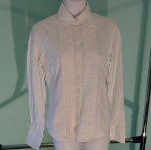 Burberry Pleated Button Down Top