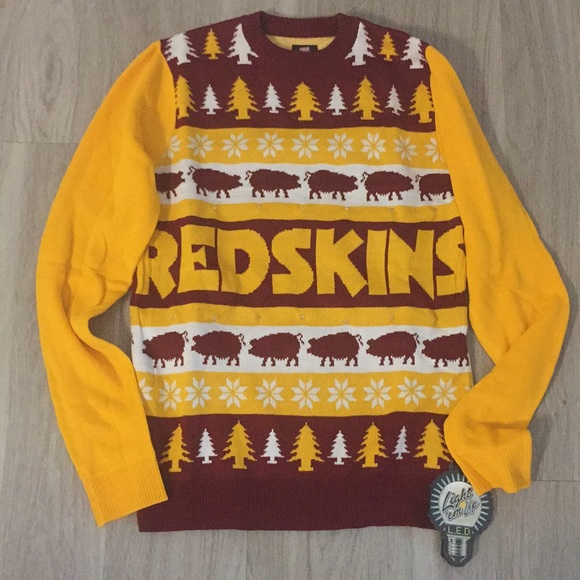 New Washington Redskins Ugly Christmas Sweater 8c9c9f754