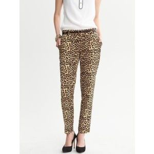 Banana Republic Leopard Skinny Ankle Honeygold
