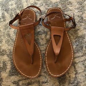 American Eagle brown leather sandals size 10