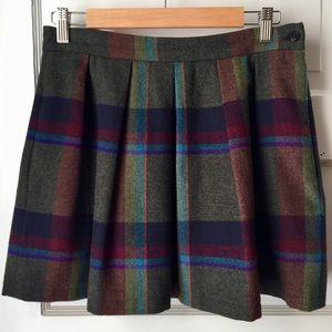 DVF Vintage wool plaid skirt