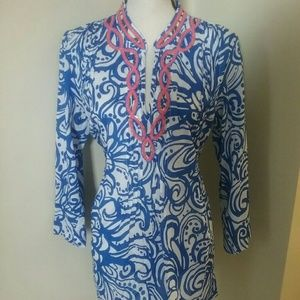 Lilly Pulitzer Sarasota Embellished  Beaded Tunic