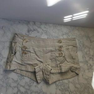 Express Creme Linen Shorts SZ 2