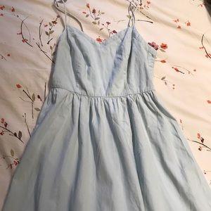 Blue, flowy Dress