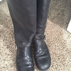 Frye black Jenna Chain Harness boots