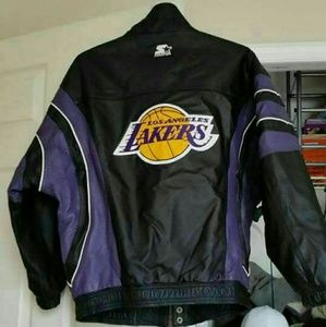 Lakers leather jacket