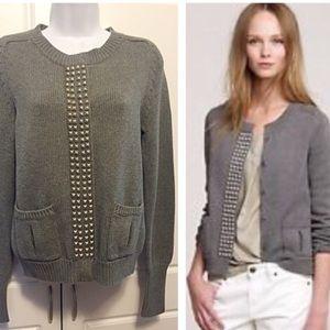 J Crew gray knit sweater.