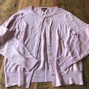 Pink JCrew Tippy Cardigan