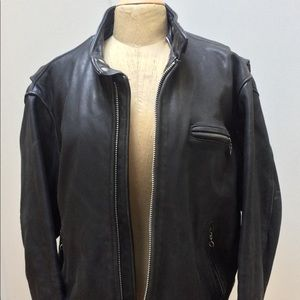 Men's Leather Motorcycle Jacket.