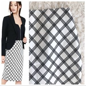 NWT - Express Windowpane Pencil Skirt
