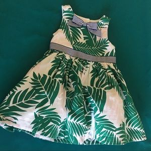 Janie and jack leaf dress with bloomers and bow