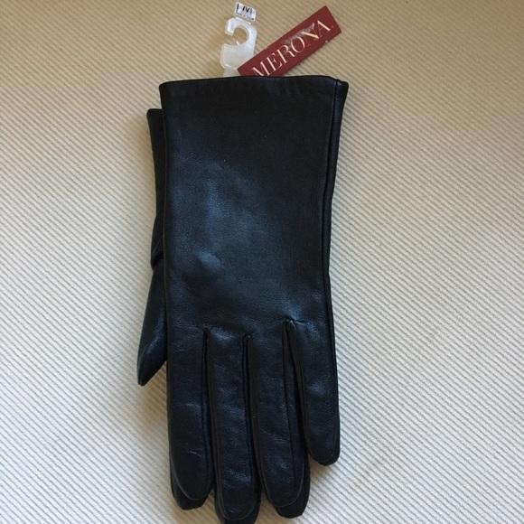 Medium Small Merona Womens Leather Winter Mittens Gloves