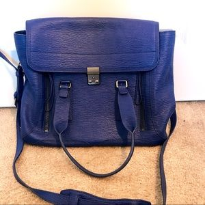 Authentic Phillip Lim cobalt blue Pashli bag tote