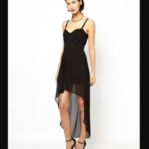 BCBG Asymmetrical Black Dress