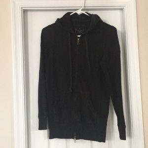 Black stretchy hoodie