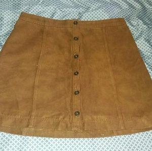 Hollister Brown Suede Mini Skirt