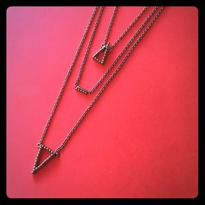 Banana Republic Triangle Layered Necklace
