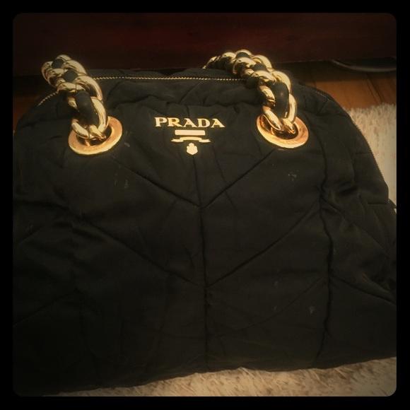 06cb8c90ca4395 prada Bags   Classic Black And Gold Bag   Poshmark