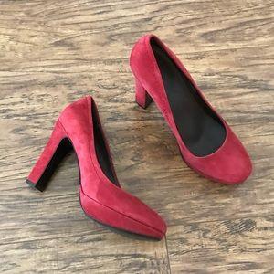J.Crew suede heels