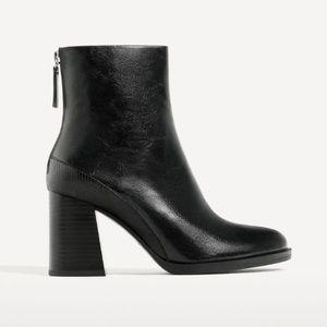 Zara High Ankle Boots Size 6.5