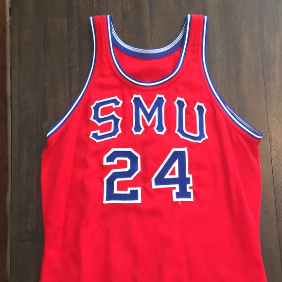 competitive price ff300 3e45c SMU vintage basketball jersey