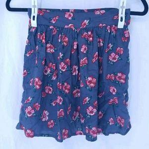 Small Dark Gray and Pink Mini Skirt