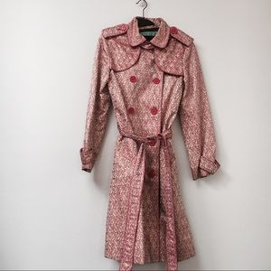 Marc Jacobs Gold and Pink Jacquard Trench