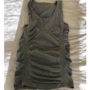 Athletes gray ruched tank top size small