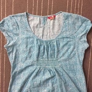 Boden blue white floral print cotton dress size 14
