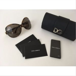 Dolce & Gabbana Sunglasses Crystal DG Logo w/ Case