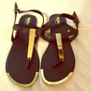 Gold accent sandals