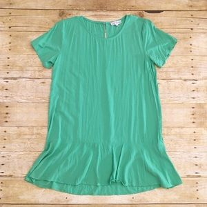 Mint green a dip of Darling short sleeve top, m