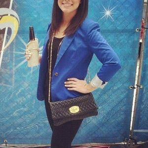 H&M cobalt blue blazer, 4
