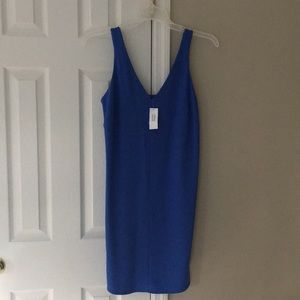 Banana Republic Holiday Blue Dress Size 8 NWT