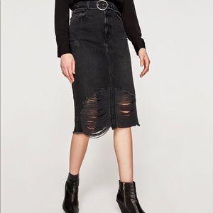 Black Denim Skirt 🎬🕶