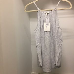 Joie Silver Sleeveless Blouse Size L NWT