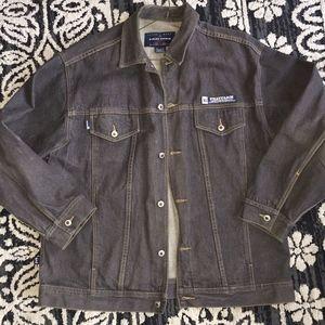 PHAT FARM denim jacket /dk gray cotton/MXL
