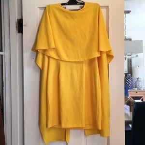 NWT Zara yellow backless dress