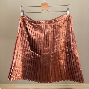 Topshop copper metallic skirt US size 10
