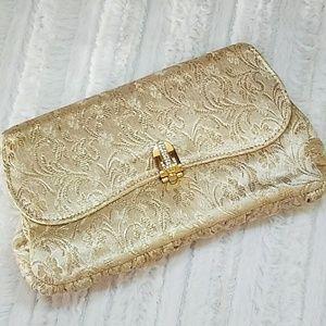 "Vintage ""Garay"" 1960's Gold Brocade Clutch"