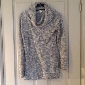 Black & White Cowl Neck Sweater