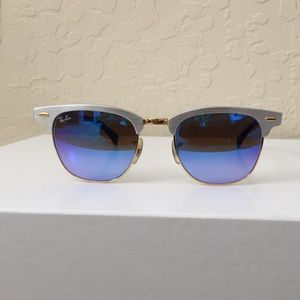 Ray-Ban Clubmaster Silver Sunglasses