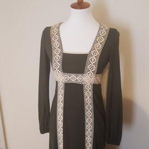 Lang Original Woodies 1960s Maxi  Dress