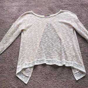 Beige Open-Back Sweater