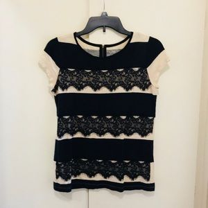 Lace and Stripe Top